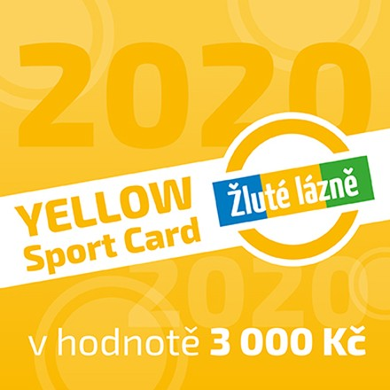 Yellow Sport Card